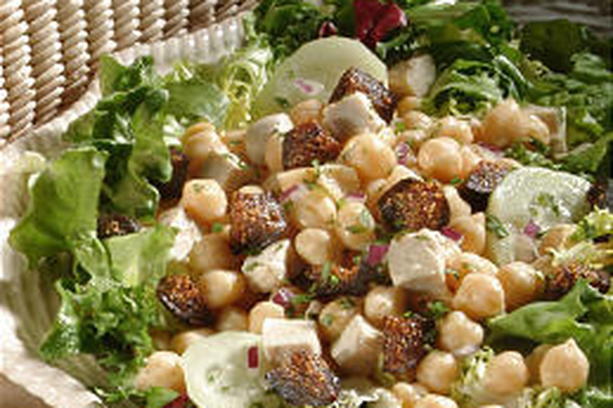 Greek-Style Chicken Fig Salad has 7 grams of fat per serving.
