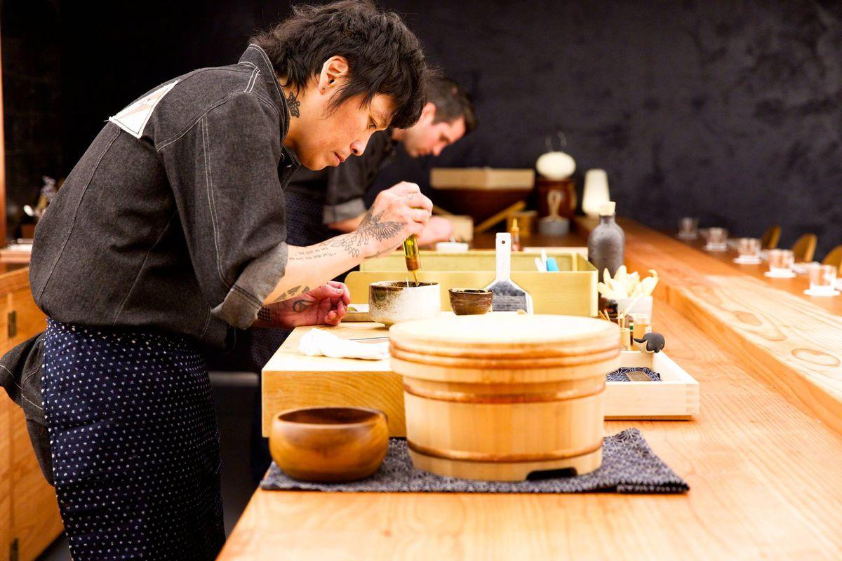 Otoko sushi chef Yoshi Okai