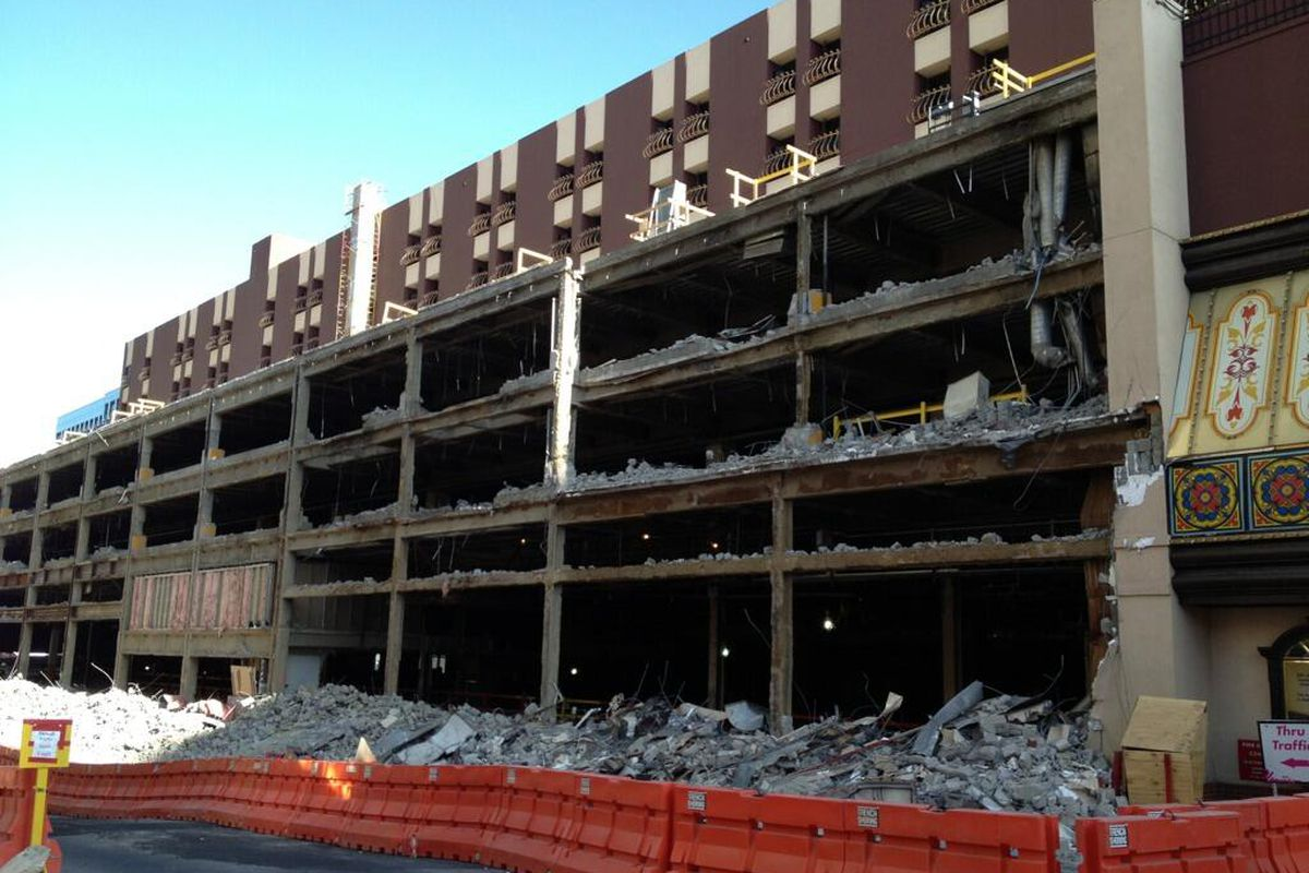 The demolition of Bill's Gamblin' Hall