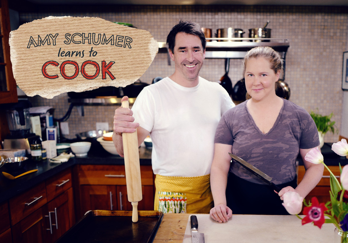 """""""Amy Schumer Learns to Cook"""" debuts May 11 on the Food Network."""