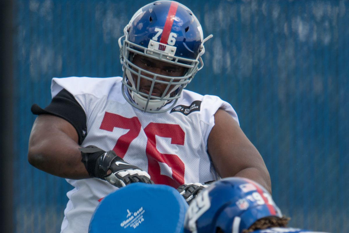 official photos 18389 3cb6d Fired-Up D.J. Fluker Brings Passion To New York Giants - Big ...