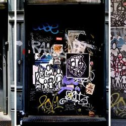 When the freight entry at 78 Crosby was an easel for street art.