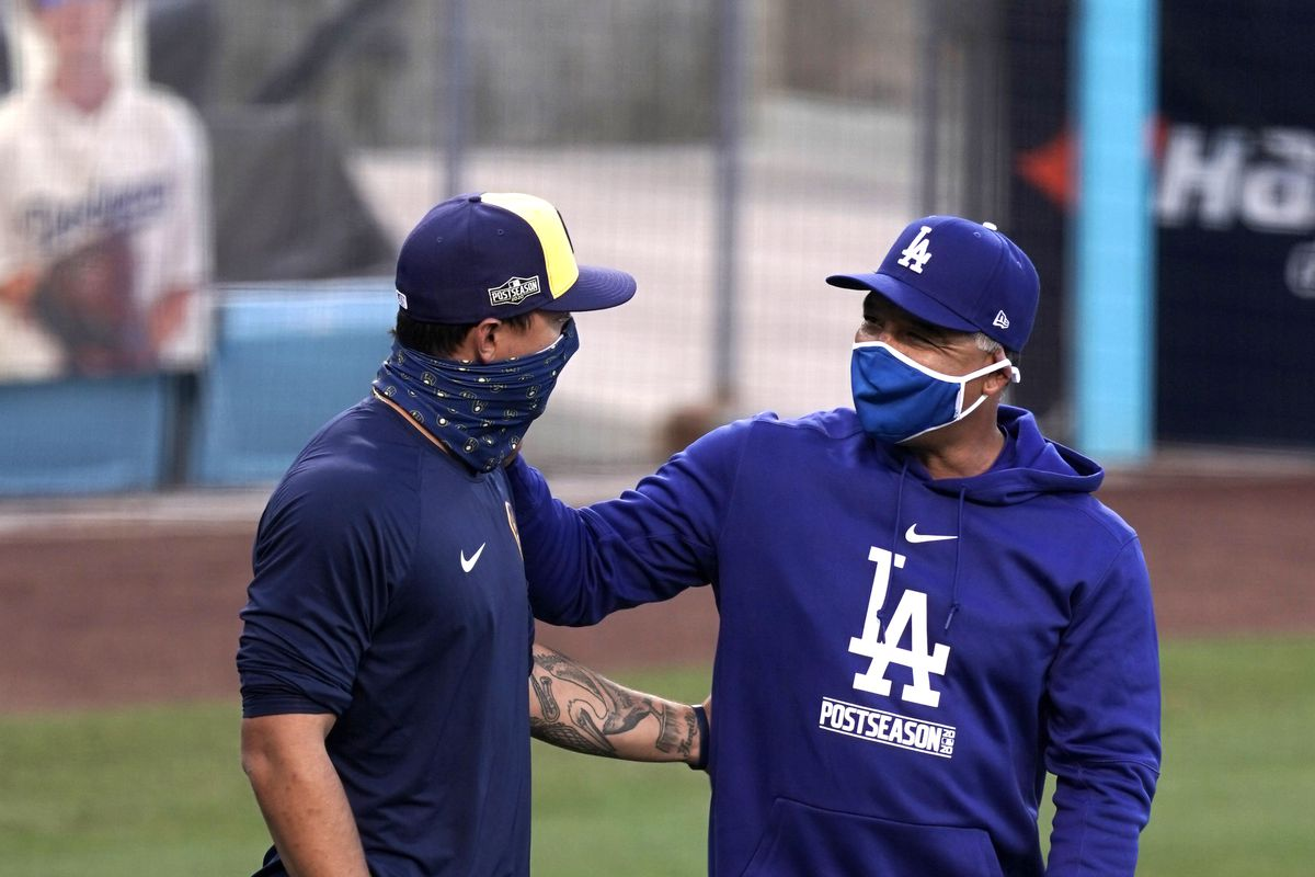 MLB: NL Wild Card-Los Angeles Dodgers Workouts