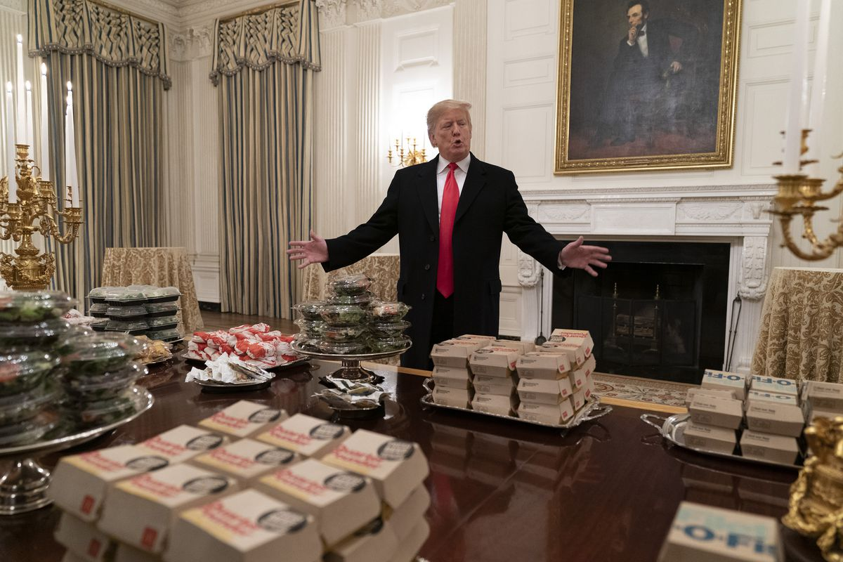 Trump served McDonald's and Burger King to the Clemson