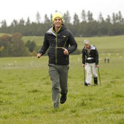 """Utah father-son team Dave, right, and Connor, left, during the 22nd season of """"The Amazing Race"""" in New Zealand. They will be back for season 24 of """"The Amazing Race: All-Stars"""" on Feb. 23."""