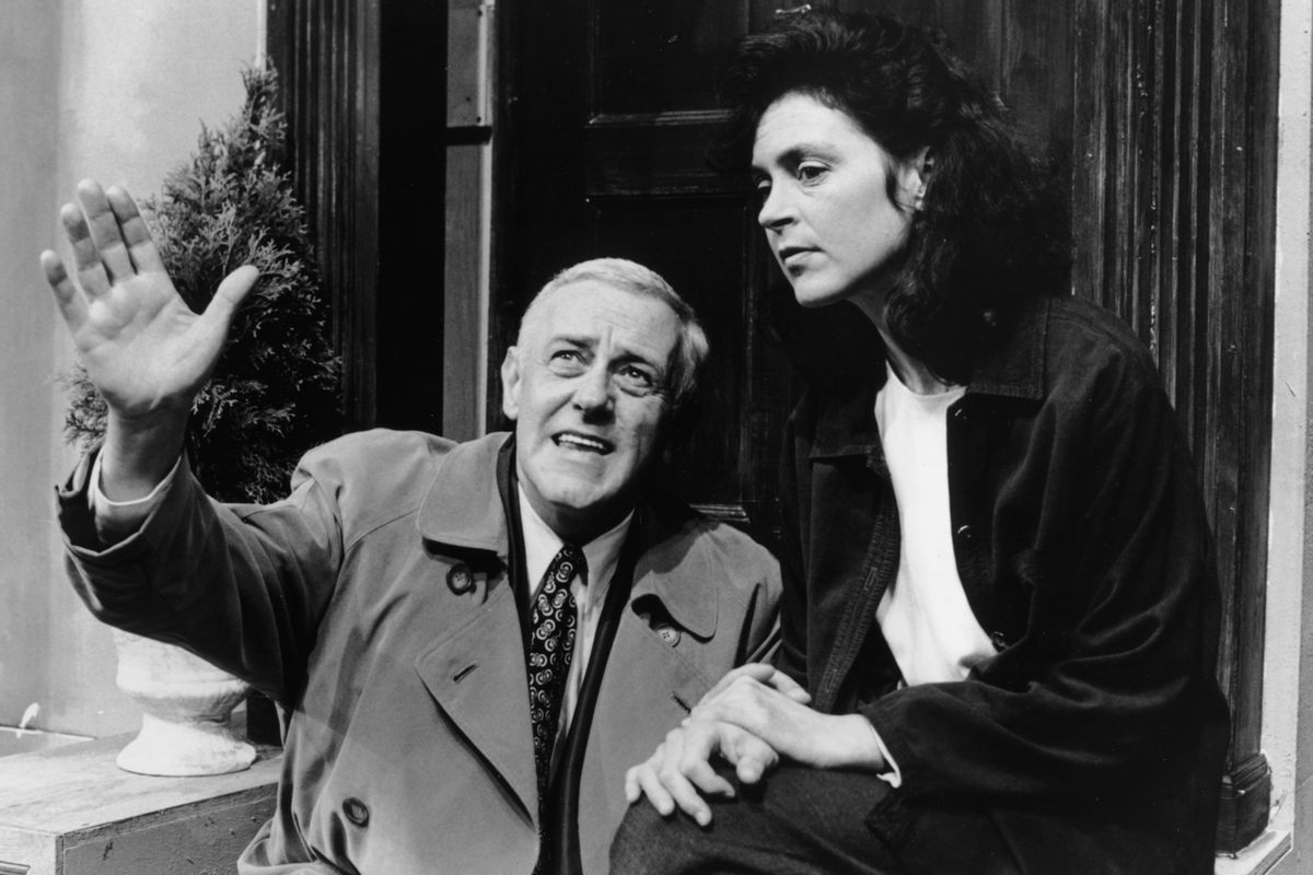 """Martha Lavey with John Mahoney in the Steppenwolf Theatre production of """"Supple in Combat."""" 