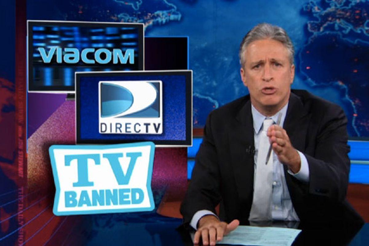 Daily Show Jon Stewart on DirecTV and Viacom