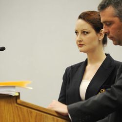 Gypsy Willis and her attorney John Easton, appear in 4th District Court on Tuesday, May 17, 2011. She was sentenced to 36 months of probation after being charged with identity fraud, two counts of giving false statements and filing a wrongful lien.