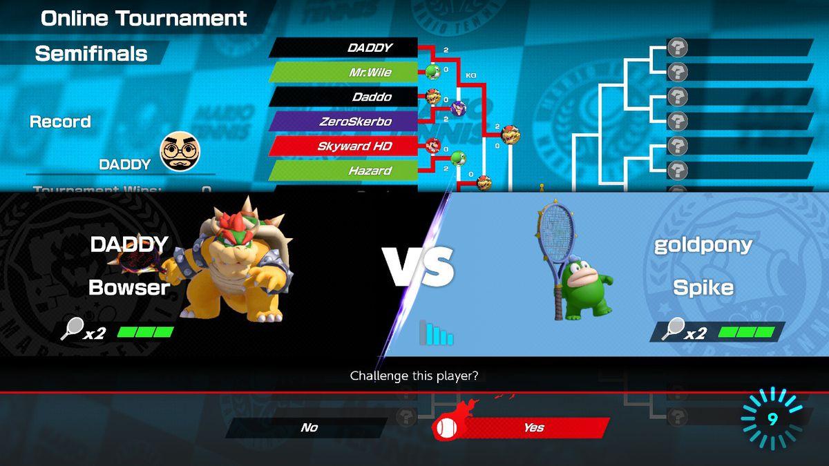 Matchmaking mario tennis aces