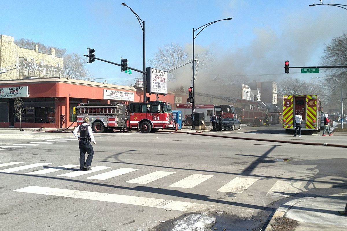 A fire broke out Feb. 3, 2021 in the 700 block of West 61st Street in Englewood.