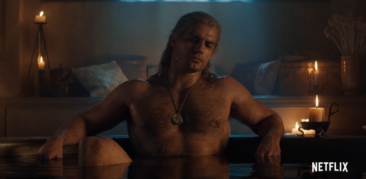 Geralt in the tub!