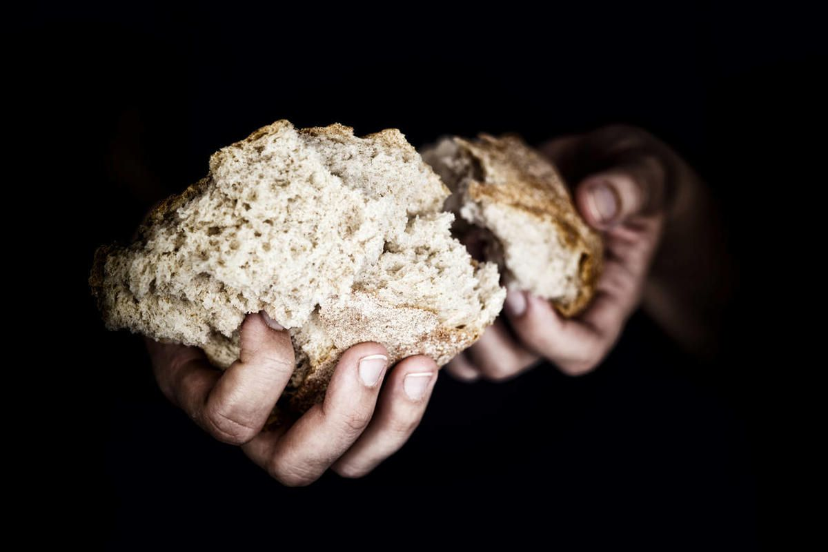 """According to the King James Bible online, """"breaking bread"""" is a reference to a conversation during the Last Supper, meaning to be grateful for all that Jesus provided."""