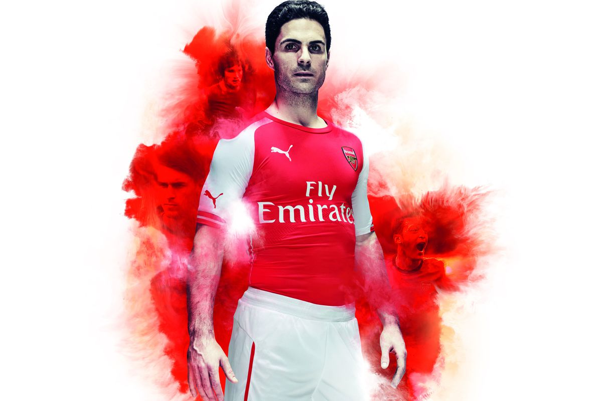 best website 0f5d3 78c7c Arsenal and Puma unveil Gunners' 2014/15 home kit, the first ...