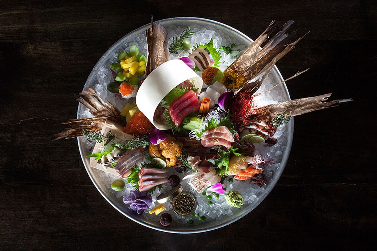 A sushi platter at Heron Tower restaurant SushiSamba, which will open in London in Covent Garden this year