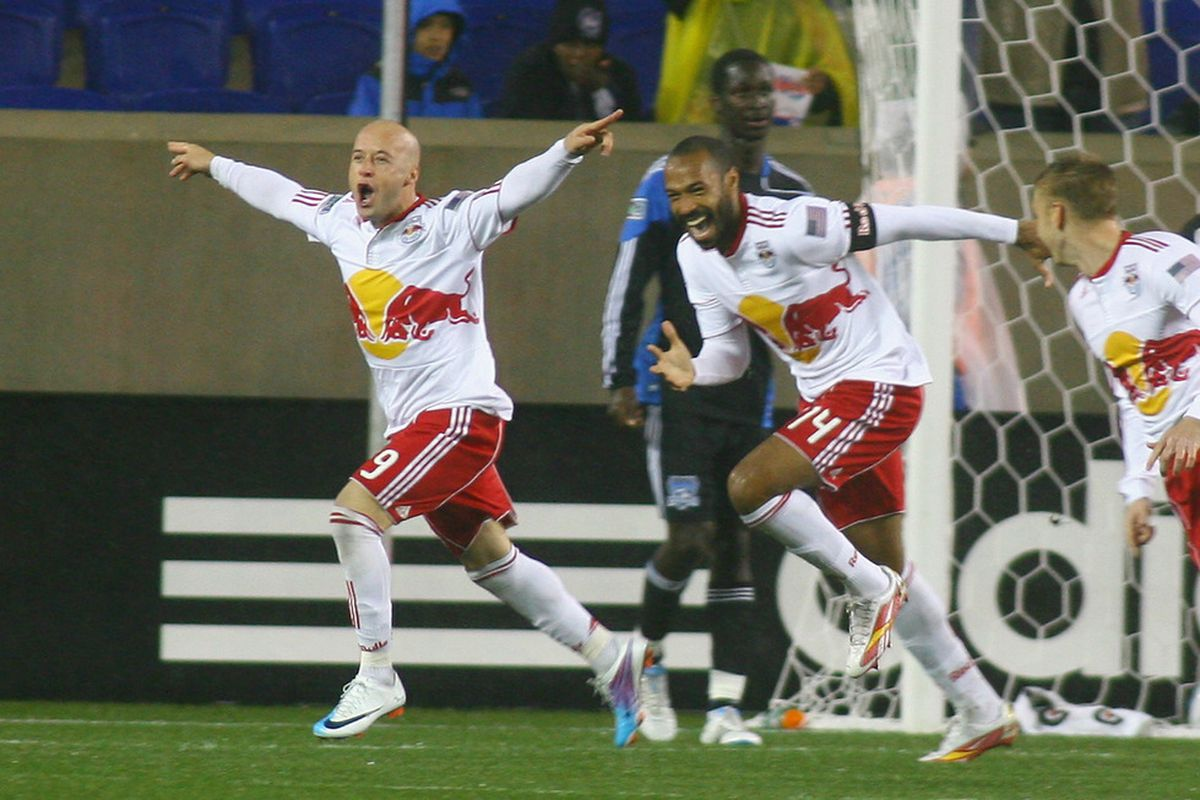Luke Rodgers continued to show how integral he is to the New York attack by scoring the go-ahead goal as the Red Bulls beat the L.A. Galaxy 2-0 on Tuesday night.