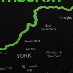 The map of York Region on the front of the kit