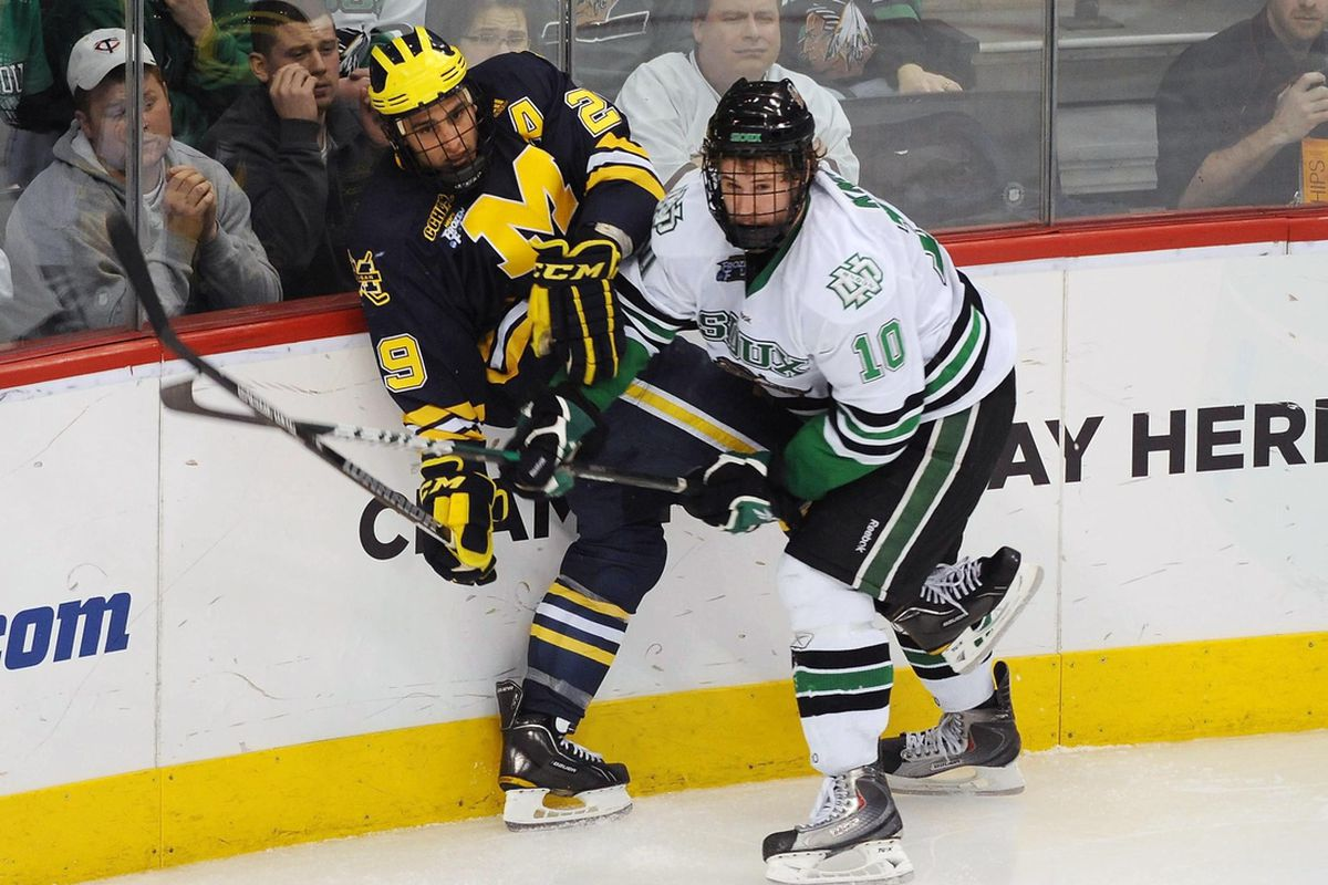 North Dakota's Corban Knight is our mid-season WCHA Player of the Year