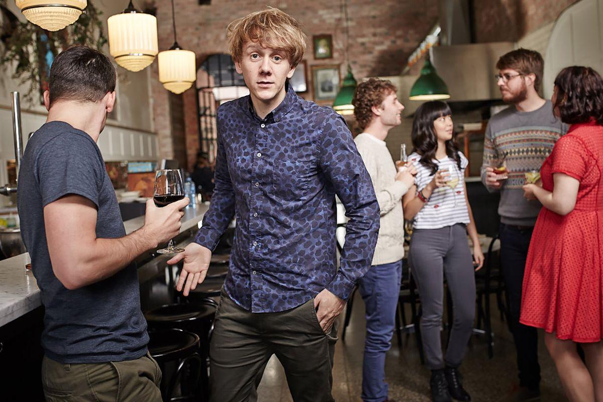 "Critically acclaimed Australian comedian, Josh Thomas (Josh) in a scene from season two of Pivot's critically acclaimed comedy drama, ""Please Like Me."""