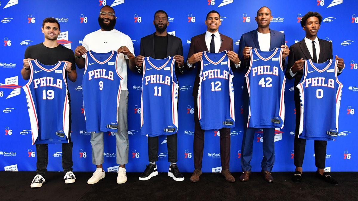 Philadelphia 76ers Introduce Al Horford, Josh Richardson, Kyle O'Quinn, and Raul Neto