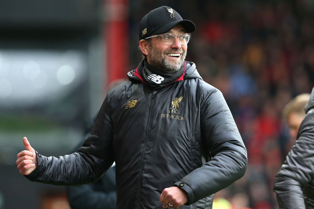 AFC Bournemouth v Liverpool FC - Premier League BOURNEMOUTH, ENGLAND - DECEMBER 08: Liverpool manager Jurgen Klopp during the Premier League match between AFC Bournemouth and Liverpool FC at Vitality Stadium on December 8, 2018 in Bournemouth, United Kingdom.