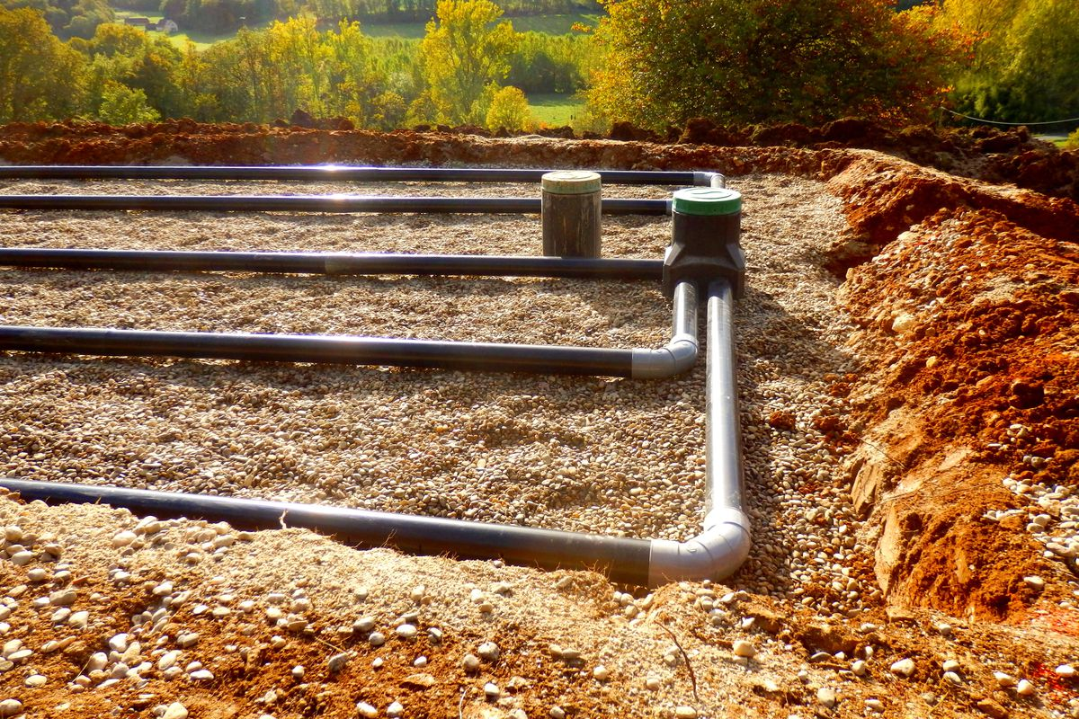 Septic System Sand and Gravel Filter Bed