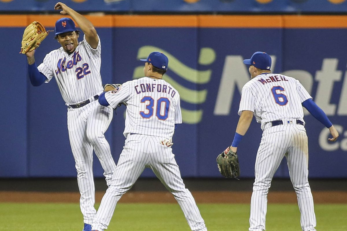 The Mets' outfield was a mixed bag in the first 'half'