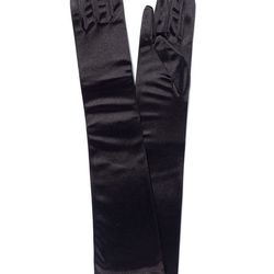 <b>1. Stretch Satin Elbow Length Gloves,</b> $12.99-$22.00: Featured all over the Vera Wang runways, long black gloves in satin and leather are perfect for the modern bride. They complement toned arms by accentuating the shape, and the proportion of lengt