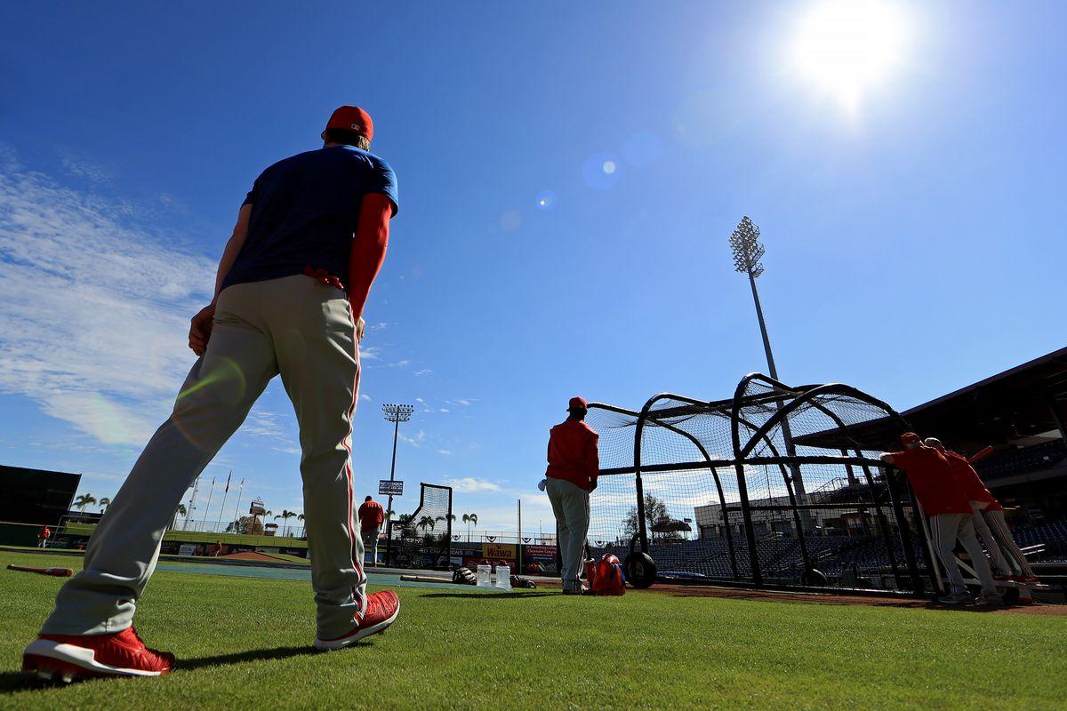 Philadelphia Phillies' Bryce Harper Workout