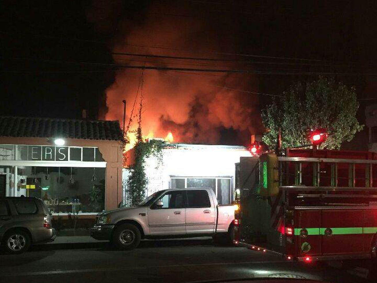 A November 8 fire at Restauration