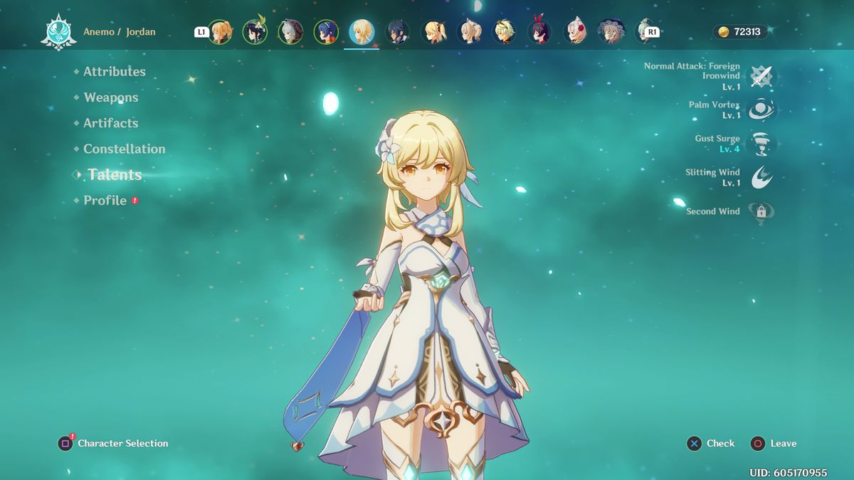 The Traveler character Genshin Impact