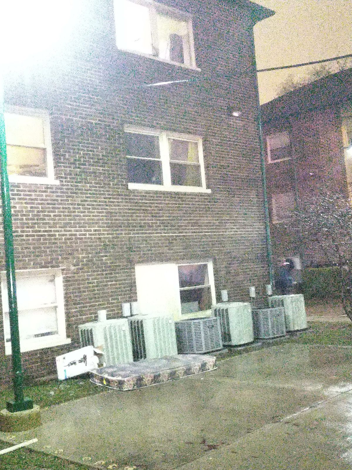 A young child threw this mattress from a window and jumped to safety March 17, 2021, in the 6100 block of South Wabash Avenue.