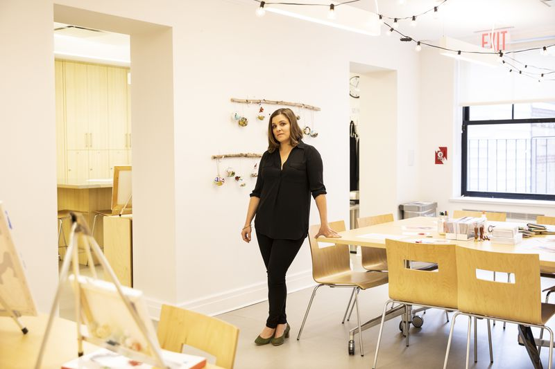 Beth Finkelstein, the executive director of Felicity House, in the house's art studio