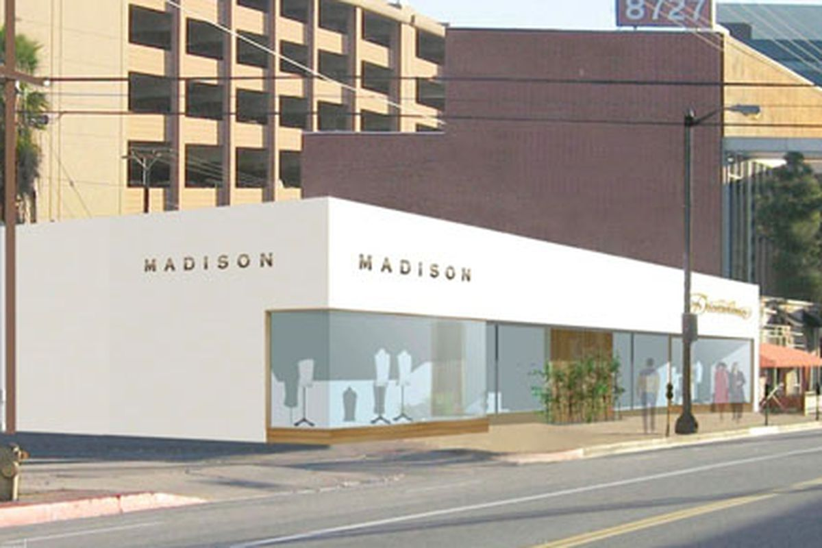 A rendering of the new Madison store