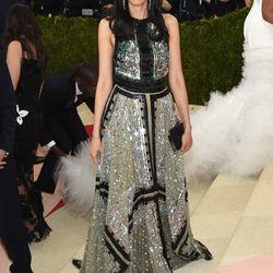 Huma Abedin wears an Altuzarra gown.