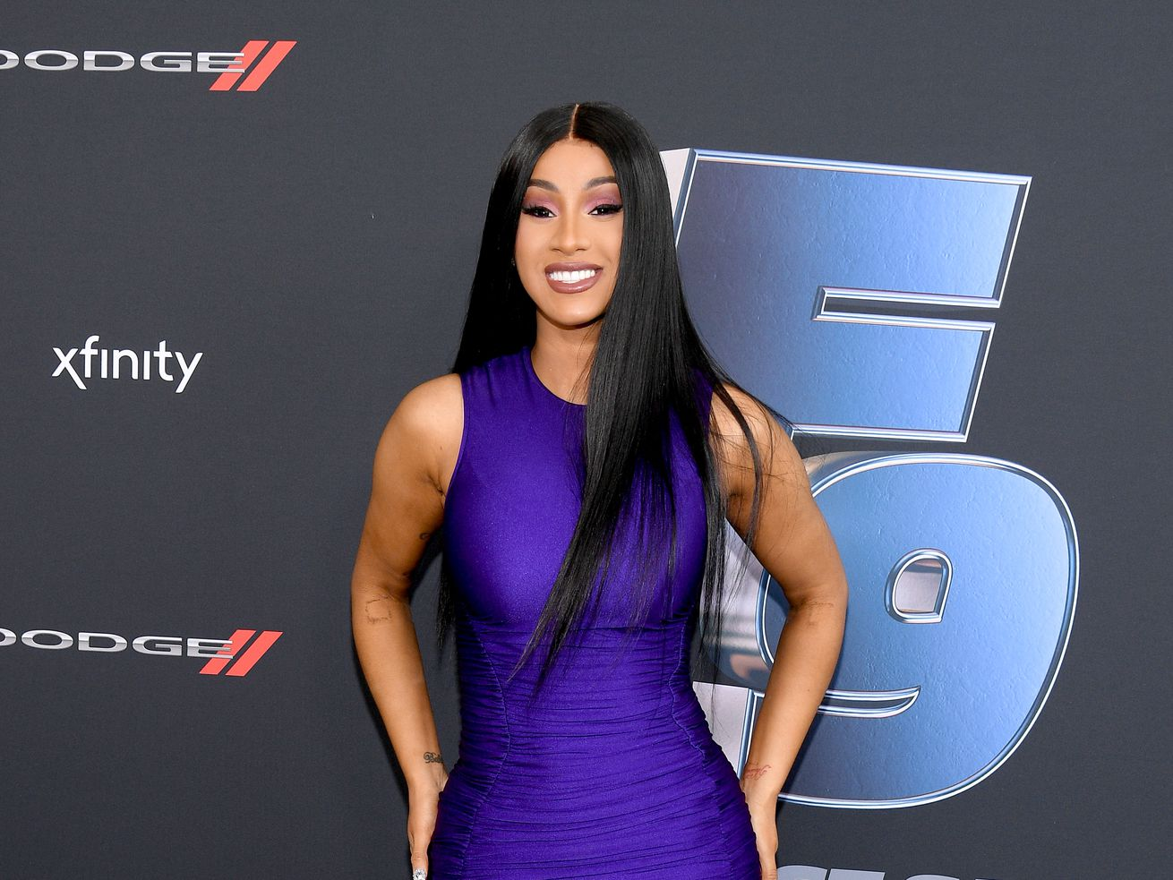 """Cardi B attends """"The Road to F9"""" Global Fan Extravaganza at Maurice A. Ferre Park on January 31, 2020 in Miami, Florida."""