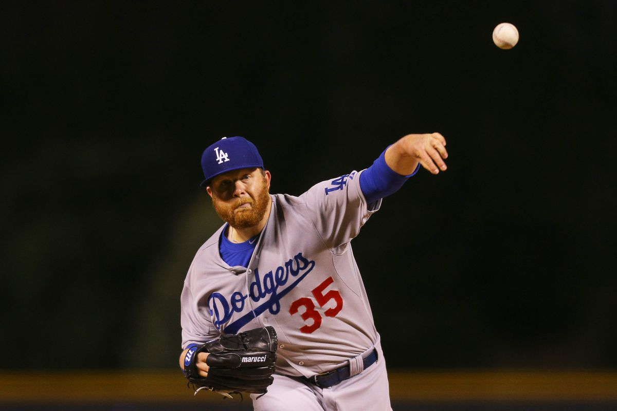 Brett Anderson, knock on wood, has been healthy all season for the Dodgers.
