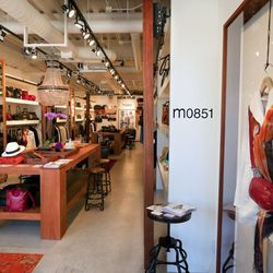 """Your next stop is another Montana Avenue newbie, <a href=""""http://la.racked.com/archives/2014/09/22/luxe_leather_label_m0851s_first_cali_shop_lands_in_samo.php"""">m0851</a> (1426 Montana Ave, #2). The Montreal-based accessories brand specializes in luxe leat"""