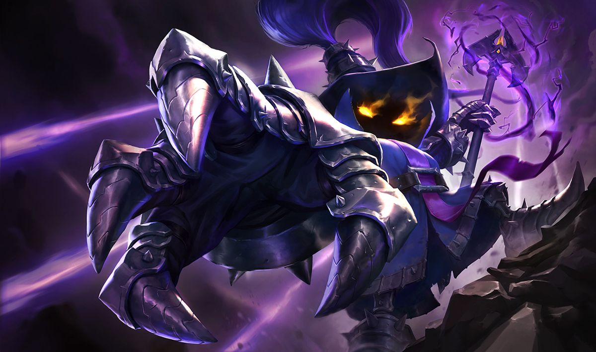 Viegar's base splash art, which has him ominously reaching his hand out to your