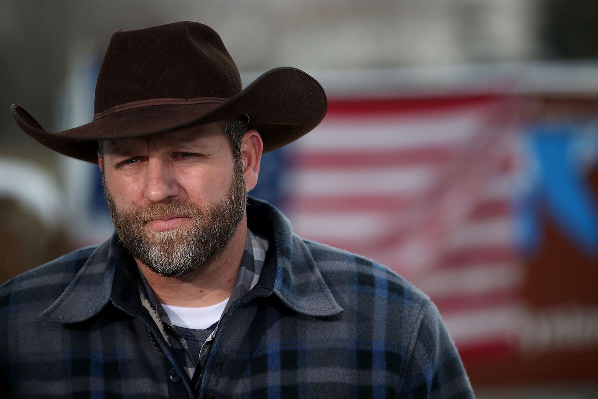 Ammon Bundy, leader of an anti-government militia, at the Oregon wildlife refuge.