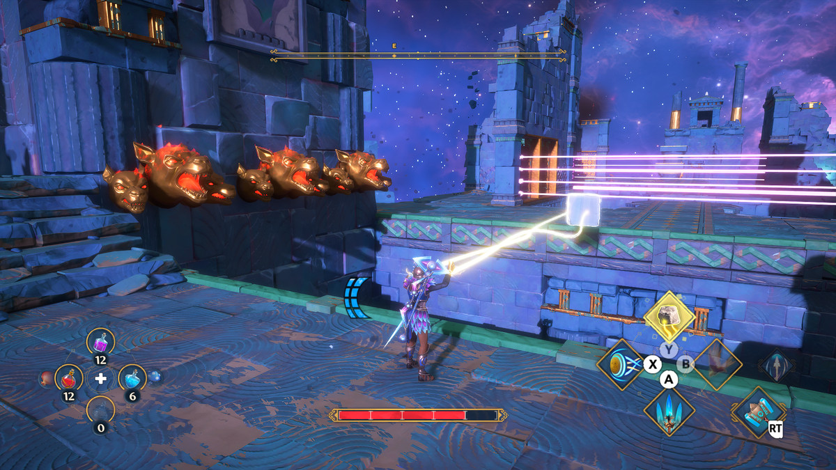 A puzzle solution for the Defying Kronos Vault of Tartaros in Immortals Fenyx Rising
