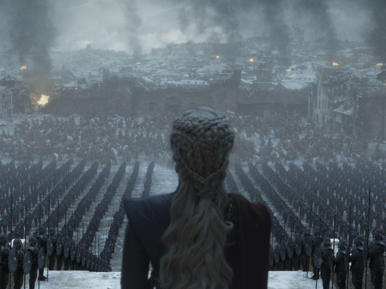 Daenerys Targaryen in the series finale of <em/>Game of Thrones.