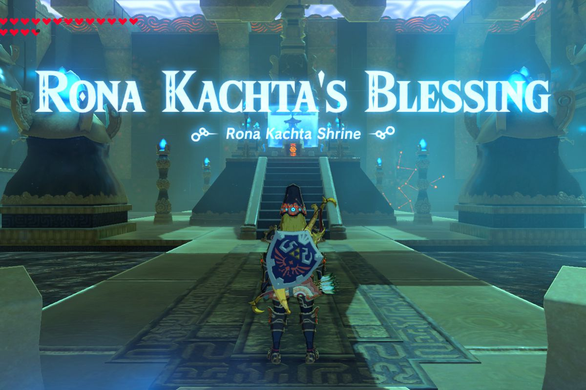 Breath Of The Wild Guide Rona Kachta Shrine And Forgotten Temple