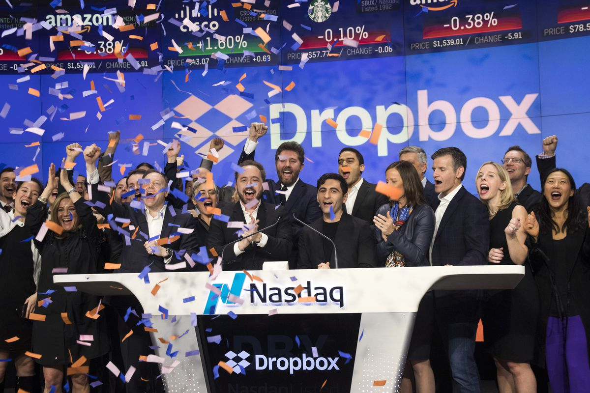 Dropbox shares soared today in biggest tech ipo since snapchat the photo by drew angerergetty images buycottarizona Image collections