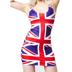 This British Flag emblazoned dress has Ginger written all over it.
