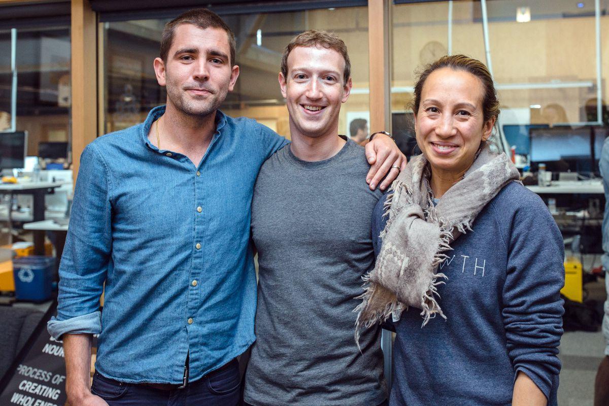 Facebook executives Chris Cox, Mark Zuckerberg and Naomi Gleit.