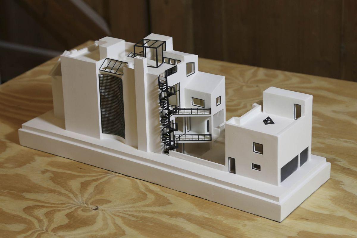plaster architectural model
