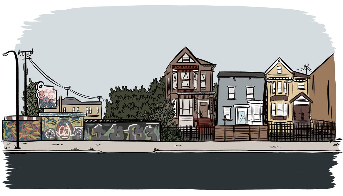 susie cagle oakland leaning flip illustrations