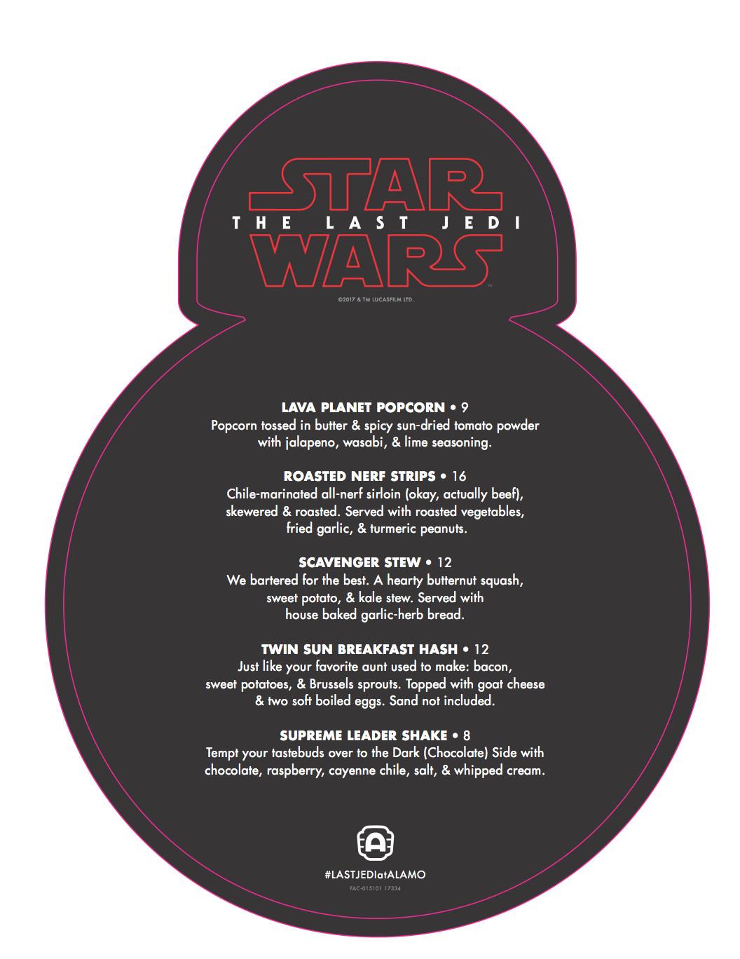 Back of the BB-8 menu