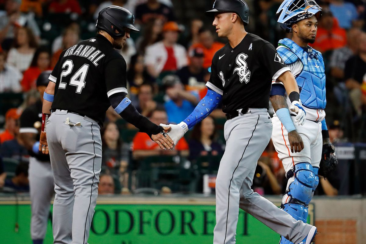 Injuries have forced the White Sox to play several infielders in the outfield, including Jake Lamb — who homered in a loss to the Astros Sunday — Andrew Vaughn and Danny Mendick.