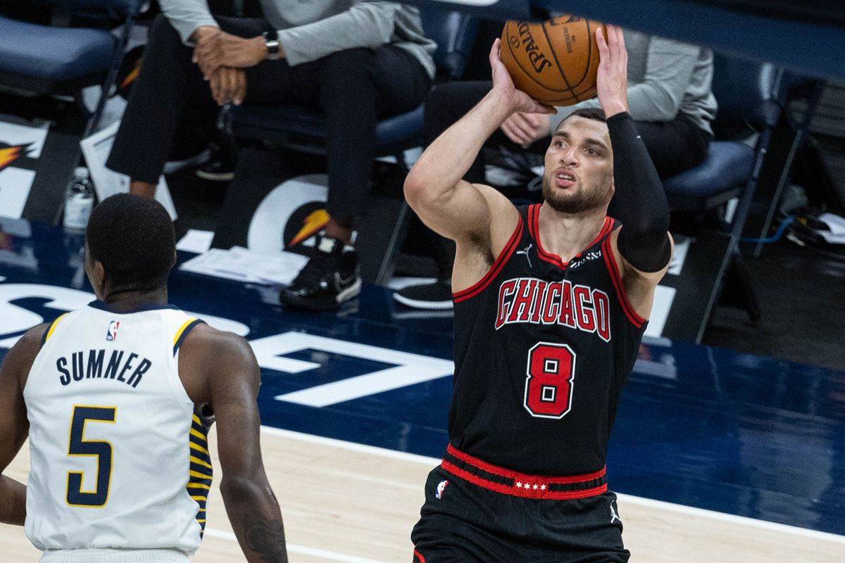 The Bulls will be without Zach LaVine after he entered the league's coronavirus protocol.